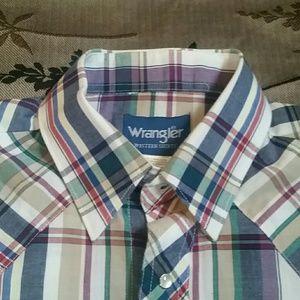 Men's Wrangler Short Sleeve Button Up